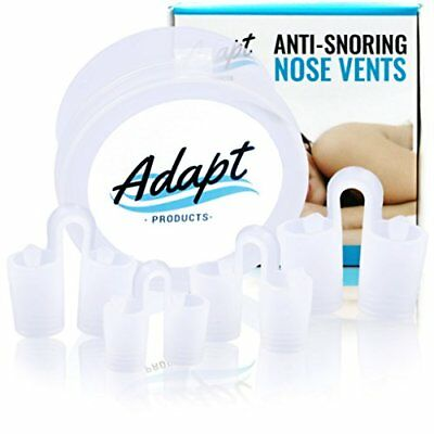 Adapt Products 4-Pack Anti Snoring Nose Vents Sleep Aid Device For Comfortable,
