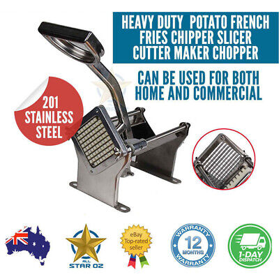 Potato Chip Cutter French Fries Maker Stainless Steel Chipper Commercial Grade
