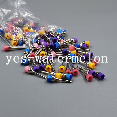 Dental Multi-color Nylon Latch Flat Bowl Buffing Polisher Prophy Cup Bolt Brush
