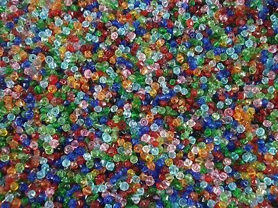 Crystal Glass 3mm Bicone Beads Mix 300pc Beading Jewellery Tiny FREE POSTAGE