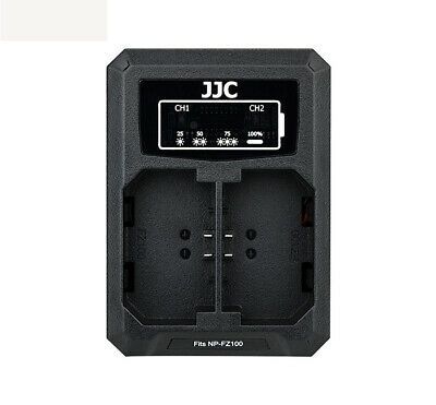 JJC USB Dual Battery Charger for Sony ILCE-9 A7 III a7r3 A9 7RM3 (NP-FZ100)