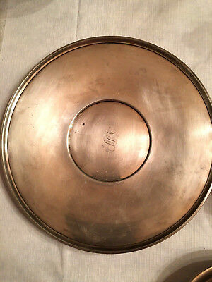 "Vintage Gorham Sterling Silver Serving Tray With Monogram ""S"" 10inch"