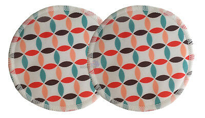 Bamboo Cloth Breast Nursing Pads Washable reuseable eco - Mosaic 2 Pack
