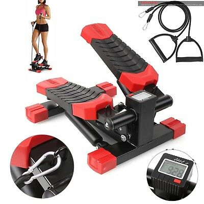 Small Exercise Stepper Aerobic Fitness Workout Machine Arm Leg Training w/ Cords