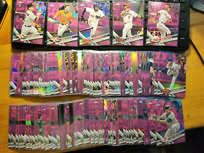 2017 Topps Chrome Pink Refractors Fill Your Set You Pick Choice 3.33 flat ship