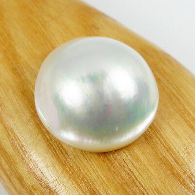 19mm Round White Rainbow Color Australia Mabe Pearl Saltwater Loose, MPR43