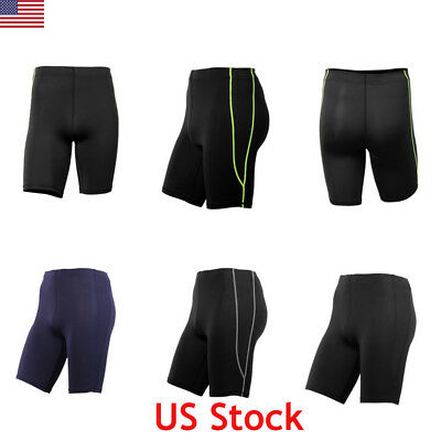 US Men Compression Shorts Pants Fitness Running Sports Gym Pouch Short Underwear