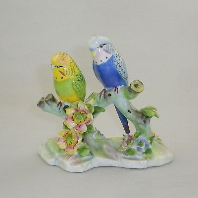 Royal Adderley Floral Double Budgerigar Figurine No 1730