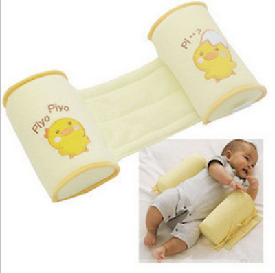 Infant Baby Toddler Safe Cotton Anti-Roll Pillow Sleeping Flat Head PositionD