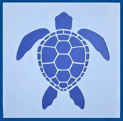 Flexible Stencil *SEA TURTLE* Small Painting Card Making Beach Craft 10cm x 10cm