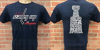Washington Capitals 2018 Stanley Cup Championship T-Shirt, Roster On Back