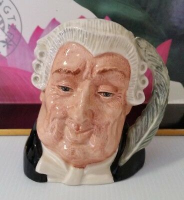 """Vintage Royal Doulton Small  Character Jug """"the Lawyer"""" D6504"""
