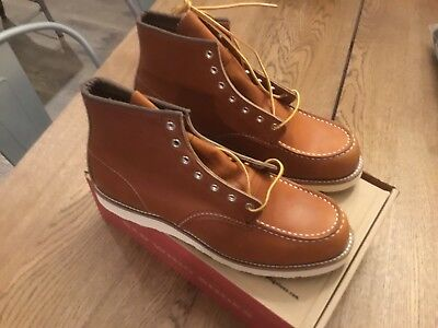 nib red wing 8822 heritage 6 round toe boots made in usa