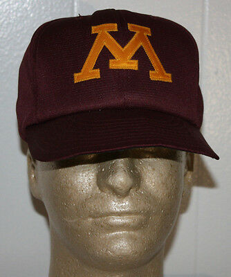 another chance 31083 faed9 Vintage 80s Minnesota Gophers Baseball Snapback Hat Cap 6 3 4 - 7 1