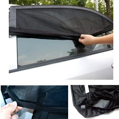 LARGE 2x Car Sun Shade Cover Blind Mesh Rear Side Window Kid UV Protection UK