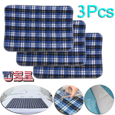 Washable Reusable Incontinent Underpad 45 x 60 Chucks Bed Pad Under Pad US