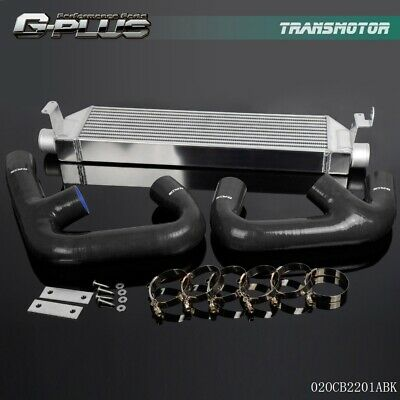 Black Hose + Twin Intercooler Kit For Volkswagen VW GOLF R GTI MK7