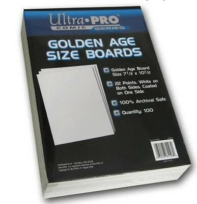 Ultra Pro Golden Comic Backing Boards 100 Per Packet
