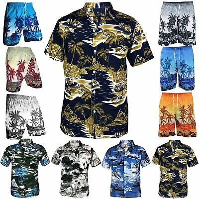 Mens Hawaiian Casual Summer Fancy Palm Tree Beach Holiday Stag Party Shirt