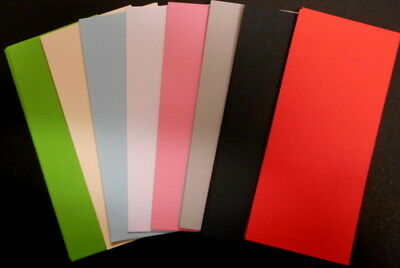 100 Papers 14cm x 6.5cm ~ 8 colours ~ great for SCRAPBOOKING/CARDMAKING