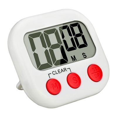 Magnetic Digital Kitchen Timer With Large LCD Display White + Red P9A9
