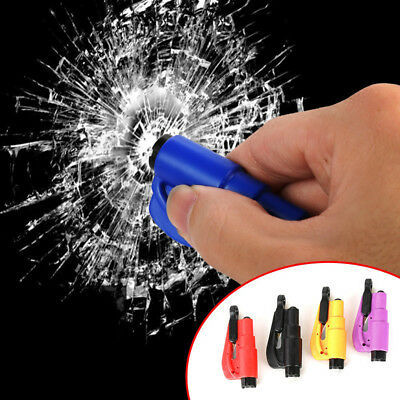 Emergency Safe Escape Car Window Glass Break Hammer Keyring Seat Belt Cutter Aqw