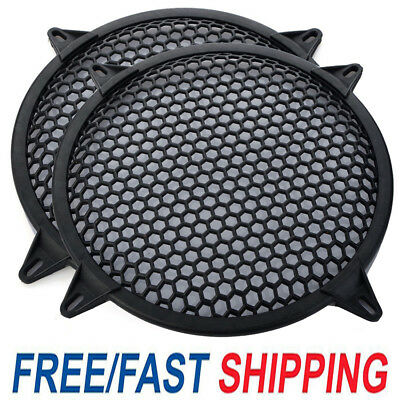 "2x 10"" Universal Grill Waddle Speaker SubWoofer Speaker Grill Cover Protector UK"