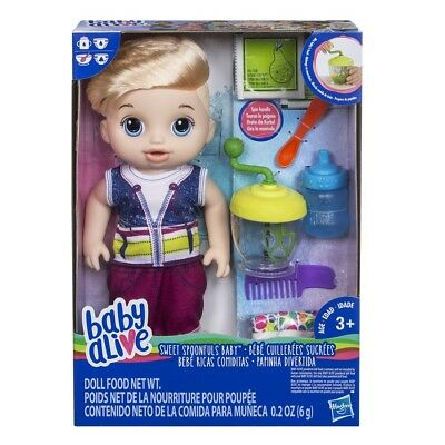 Boy Baby Alive Sweet Spoonfuls Doll Poops and pees Feed Pretend Parenting
