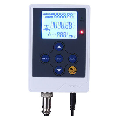 LCD Water Liquid Flow Rate Volume Digital Display meter Quantitative Controller