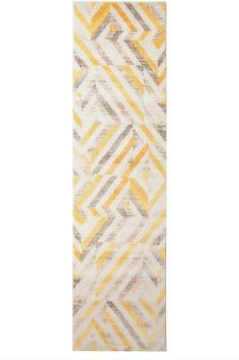 Hallway Runner Hall Rug Modern Yellow Mat Carpet 3, 4 Metres Long FREE DELIVERY