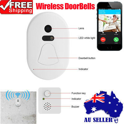 Wireless WiFi Video Camera Door Phone Doorbell Intercom Monitor Security Night