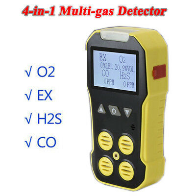 4 IN 1 Harmful Toxic Gas Detector CO EX H2S Oxygen Alarm Analyzer Meter Test