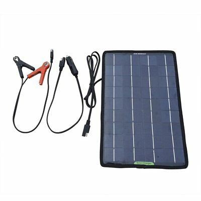 Solar Battery Charger Maintainer Powered 12 V 10 W Auto Car ATV Boat Marine