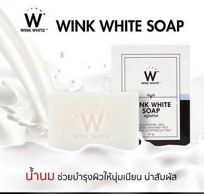 3 x WINK WHITE Gluta Pure Soap Whitening Body Face Facial Brightening Skin 80g