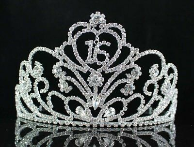 Sweet Sixteen 16 Birthday Party Rhinestone Tiara Crown New for Girls Princesses