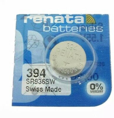 1 PCS Renata SR936SW 394 1.55V Silver Oxide Battery for Watch Swiss Made