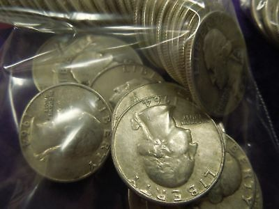 40- 90% silver Washington quarters $10 face value- bullion coins