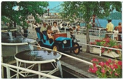 Monticello In Indiana Beach Laker Shafer Antique Auto Vintage Postcard Chrome