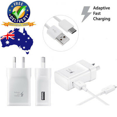 Fast Charging Australia USB Wall 5V 2A Charger Plug Type-C Cable For Samsung New