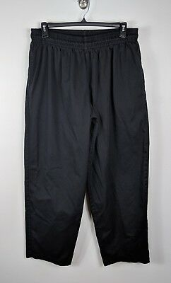 Chef Works Black Elastic Waist Pull On Pants Pockets Plus Size Unisex 2XL