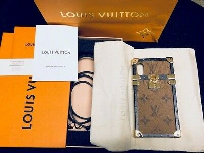 newest ff166 a711b NEW AUTHENTIC LOUIS Vuitton Eye Trunk For Iphone X Reverse Case
