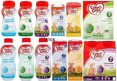 Cow Gate First Infant Milk Starter Pack 6 X 70ml Cow And Gate