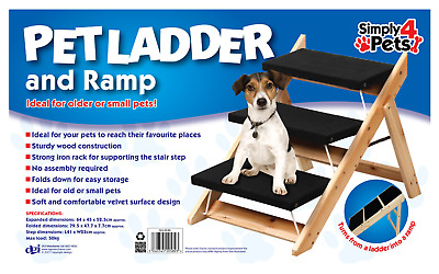 Portable Folding 3 Step Ramp/Stairs for Pet Dogs Cats Steps Animal Car Ladder