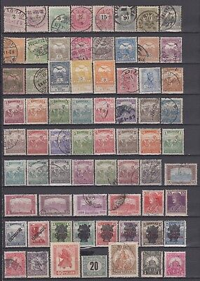 Hungary - 1874-1925 Stamp Accumulation (Used, MH and MNG)