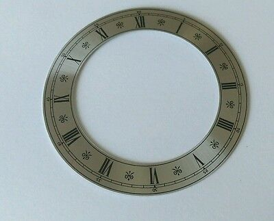 Clock Chapter/Hour Ring Silver Aluminum Roman 94mm Outside 66mm Inside