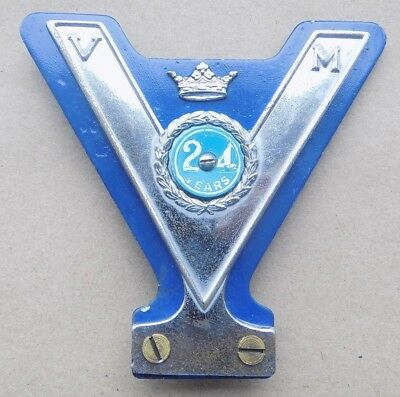 Automotive Club Badges Vintage Vm Veteran Motorist Car Badge No Year Badge Attached.