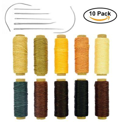 BIGTEDDY - 10 Colors 150D 1mm Hand Stitching Waxed Leather Thread Supplies with