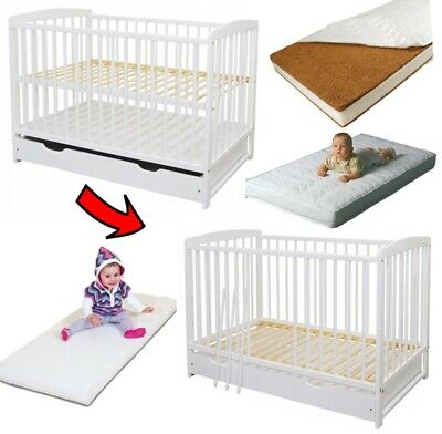 JASPER 120x60cm BABY COT WITH DRAWER + FREE BARRIER + OPTIONAL MATTRESS 5 TYPES