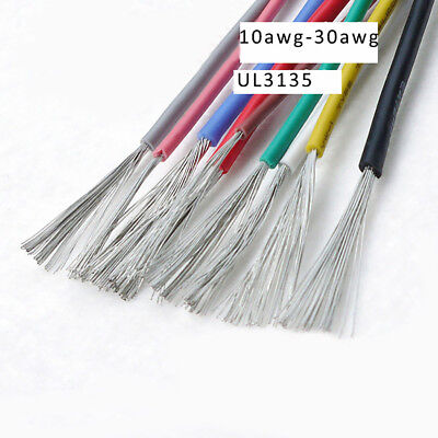 UL3135 Silicone Rubber Wire Cable 200°C 600V10/12/14/16/18/20/22/24/26/28/30AWG