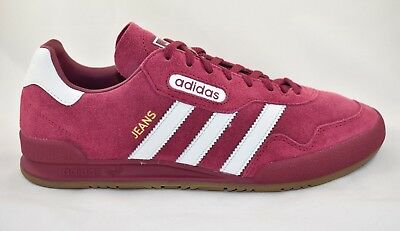 Mens Adidas Jeans Super Red Trainers RRP £79.99